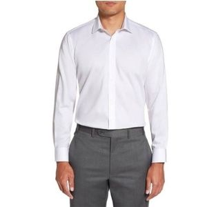 New Ted Baker Geo Jacquard Endurance White Shirt